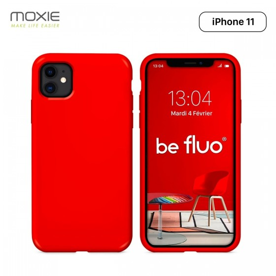 COQUE BE FLUO IPHONE 11 PRO ROUGE