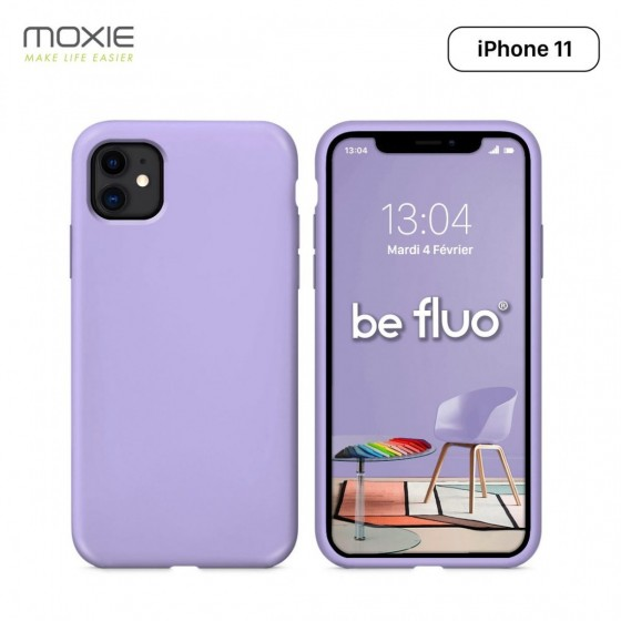 IPHONE 11 COQUE BE FLUO LILAS