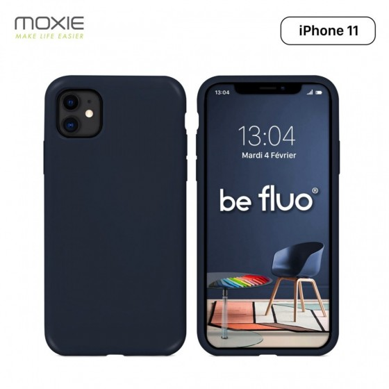 IPHONE 11 COQUE BE FLUO BLEU NUIT