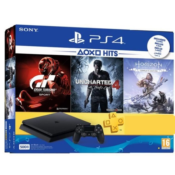 PS4 PRO 1TB + Gran Turismo + Uncharted 4 + Horizon Zero Dawn