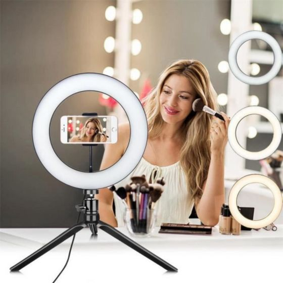 STAND + SUPPORT LED RING POUR VIDEO TIKTOK