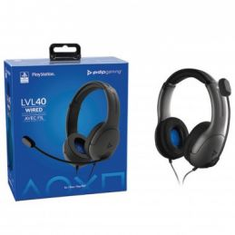 CASQUE GAMING FILAIRE PS4/PS5 LVL40 BLACK